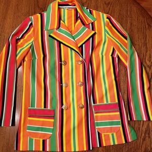 70s vintage double breastfed womens jacket Large